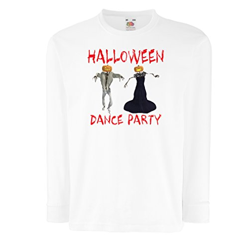 T-Shirt for Kids Cool Halloween Party Events Costume Ideas, (14-15 Years White Multi Color) -