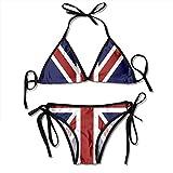 BEST&&SHIRT Women's Two Piece Bathing Suit Adjustable British Flag Design Bikini Set