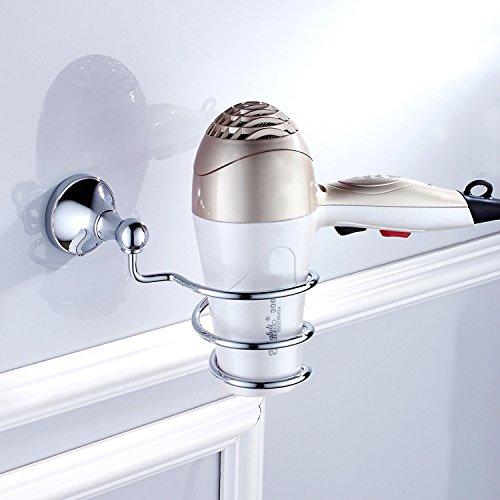 700Brass Hair Dryer Holder Idea for Hotel/Motel/Home, Solid Brass, Polished Chrome, Satification Guarantee, Bathroom/Kitchen Hardware Holder