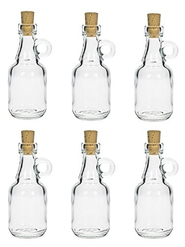 12 unidades Mini galón 40 ml botellas de vidrio con corcho botellas de licor botella asa
