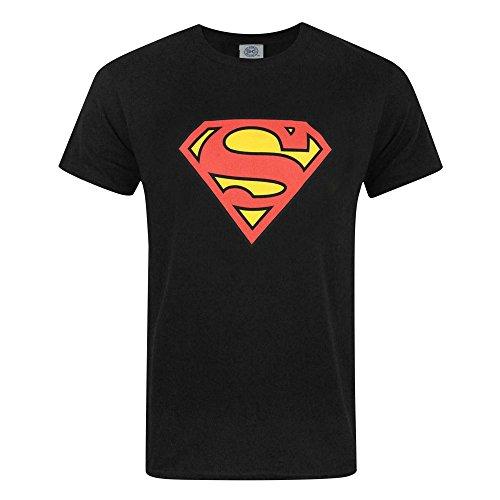 Superman Mens Shield Logo T-Shirt (2XL) (Black)