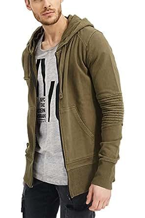 trueprodigy Casual Hombre Marca Sudadera Zip Basico Ropa Retro Vintage Rock Vestir Moda con Capucha Manga Larga Slim Fit Designer Cool Urban Fashion Jacket ...
