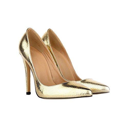 Zhuhaixmy Mode Damen Klassisch Krokodil-Muster 11CM High Heels Stilettos Spitz Schuhe sqY9i