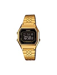 CASIO Vintage Collection LA680 Watch, Black/Gold
