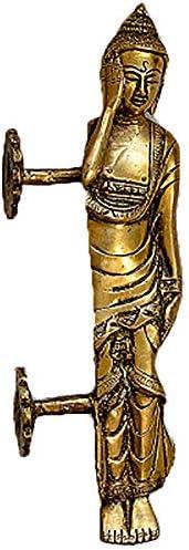 多機能金属ハンドル 銅ドアハンドルと仏スリーピングハンドプル菩提ロング銅ハンドル個々 多くの用途があります (色 : Brass, Size : 26×8.5cm)