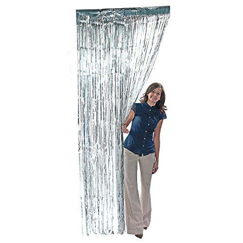 (Rhode Island Novelty Metallic Silver Foil Fringe Curtains (1 Piece))