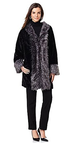 adrienne-landau-kimono-jacket-with-faux-fur-fox-trim-black-chevron-silver-foxlarge