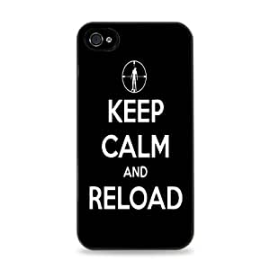 Keep Calm And Reload Black Silicone Case for iPhone 6 (4.7 inch) i6