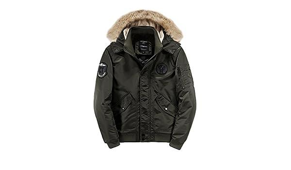 NiSeng Parka Militar Hombre Abrigo Capucha Pelo Chaqueta Jacket Invierno Verde Oliva XL: Amazon.es: Ropa y accesorios