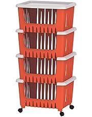 Cosmoplast 4 Drawer Multipurpose Storage Rack - Red