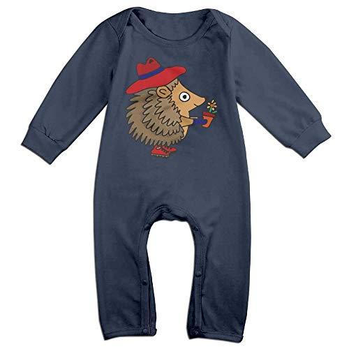 TYLER DEAN Toddler Baby Boy Girl Long Sleeve Jumpsuit Cute Hedgehog Gardener Toddler Jumpsuit -