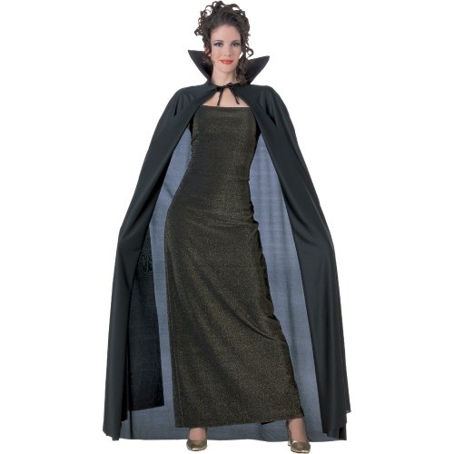 Black Adult Costumes Cape (Rubie's Costume Full Length Fabric Cape, Black, One Size Costume)