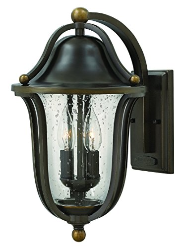 - Hinkley 2644OB Traditional Two Light Wall Mount from Bolla collection in Bronze/Darkfinish,