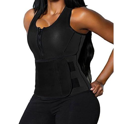 FLORATA Sweat Vest For Women, Adjustable Neoprene Sauna Waist Trainer Vest For Weight Loss free shipping
