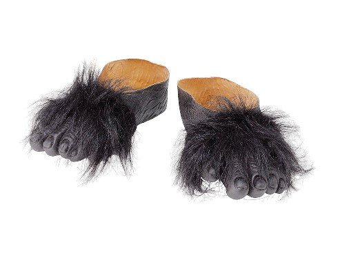 Gorilla Costume Feet (Gorilla Animal Zoo Safari Fancy Dress Costume Feet Accessories)