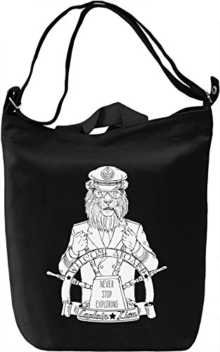 Captain lion Borsa Giornaliera Canvas Canvas Day Bag| 100% Premium Cotton Canvas| DTG Printing|