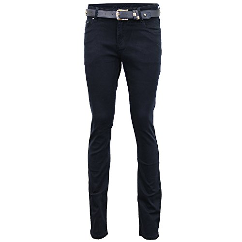 Navy Donna Aderente Vita Alta Slim Cintura 163 Denim Sbiadito Pantaloni Jeans Con BvxSS