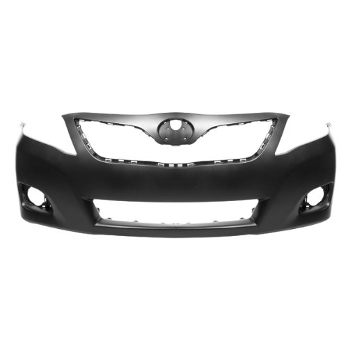 CarPartsDepot, Primered Front Bumper Cover New Replacement US Built W/O Spoiler, 352-441311-10-PM TO1000356 -