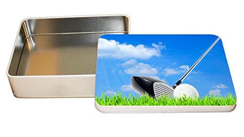 Golf Sport Background Blue Skies Decorative Metal Tin Trinket Box 3