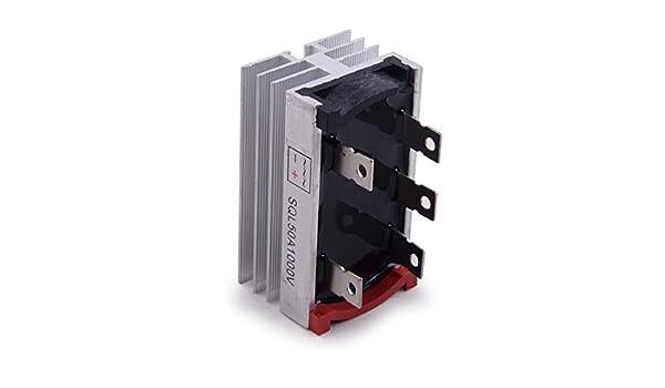 Caja Met/álica 3 Puente de diodo trif/ásico Rectificador 50Amp 1000V M/ódulo SQL50A