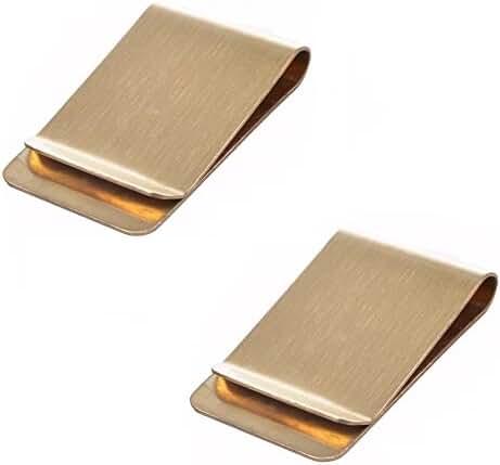 FiFUN Metal Slip Money Clip - Pack of 2
