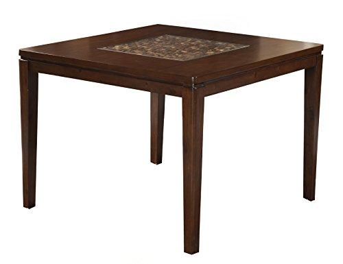 Alpine Furniture 1437-03 Granada Counter Height Pub Table, Brown Merlot