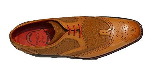 Jeffery West , Chaussures de ville à lacets pour homme marron peau