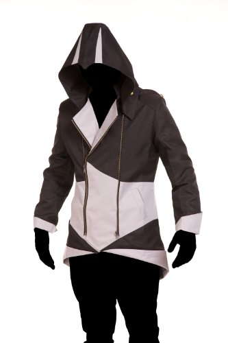 iFigure Cosplay Costume Hoodie Jacket for Adult and Child Black&Silver (Assassin's Creed Uniform)