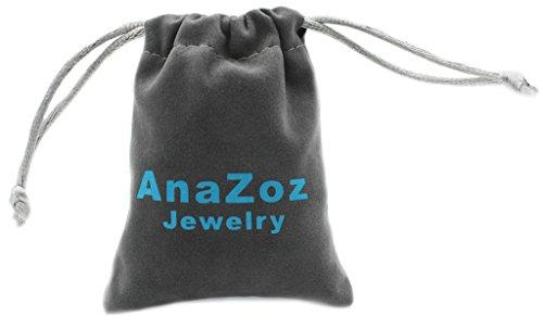 AnaZoz Bague Personnalisée Bague Femme Argent S925 Bagues de Fiançailles Bague Elégant Perle CZ Taille 61.5