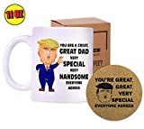 Trump Dad Mug - Funny Novelty Coffee Cup - Father's Day Gifts for Dad Presents - President Donald Conservative Republicans Christmas Gift Ideas - 11 Oz