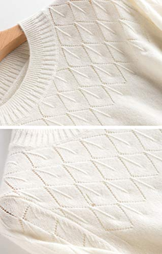 Lunga Bianco Maglione Donna Dissa Manica RF71qqw