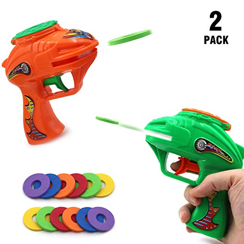 CTRLZS Soft Bullet Gun Shooting 2-Pack Pistol Kids Toy Foam Disc 12 a Foam Bullets Mini Rubber Dart Water Gun Bathroom Beach Outdoor Indoor Lnteractive Game Toys -