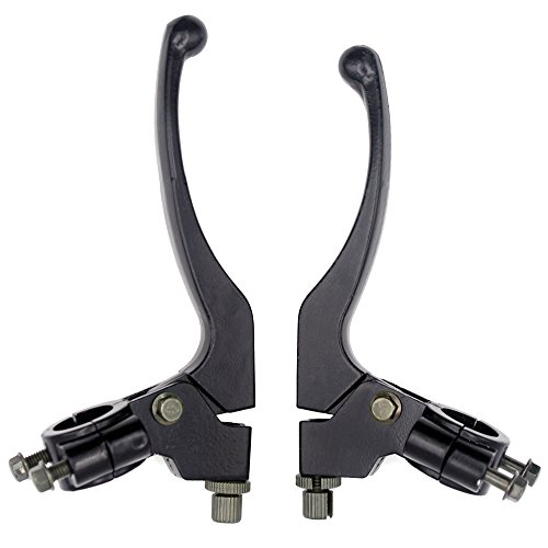 Royitay Full Aluminum Alloy Handle Bars Left Right 7/8'' Clutch Brake Handle Levers Perch For XR80 XR100 CRF70 CRF80 CRF100 Pit Dirt Motor Bike Motocross Motorcycle by Royitay (Image #1)