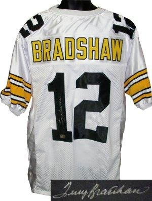 the best attitude a4a2e 52704 Signed Terry Bradshaw Jersey - White TB Custom Stitched Pro ...
