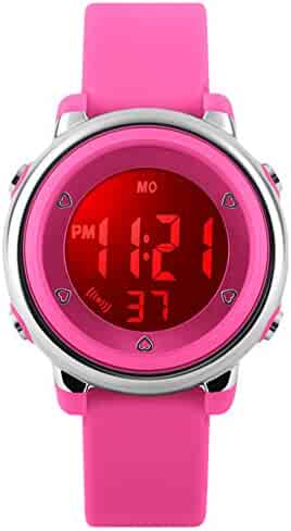 Kids Sports Digital Watch - Girls Waterproof Outdoor Sport Watch with Alarm, Wrist Watches for Childrens