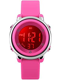 Kids Sports Digital Watch - Girls Waterproof Outdoor Sport Watch with Alarm, Wrist Watches for Childrens