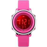 MSVEW Kids Sports Digital Watch - Girls Waterproof Outdoor Sport Watch with Alarm, Wrist Watches for Childrens