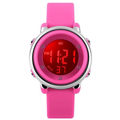Kids Sports Digital Watch – Girls Waterproof Outdoor Sport Watch with Alarm, Wrist Watches for Childrens