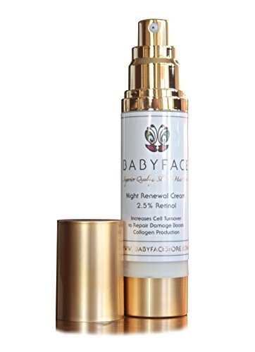 80% More FREE! Babyface Organic Night Renewal Cream STRONGEST AVAILABLE 2.5% All-Trans Encapsulated Retinol 1.8oz