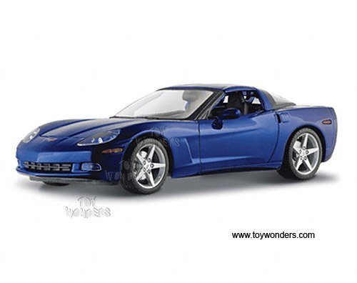 DiecastTW Maisto - Chevrolet Corvette Coupe C6 (2005, 1/18 Scale diecast Model car, Metallic Blue) 31117 diecast Motorcycles and Cars ()