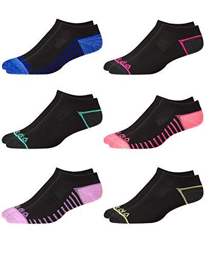 - 'Reebok Women\'s Flat Knit Low Cut Socks (6 Pack), Black 2, Size Shoe Size: 4-10'