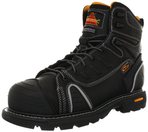 Image of the Thorogood Gen-Flex 6-Inch Lace-Toe Composite Work Boot, Black Leather, 10 M US
