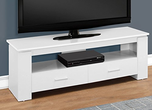 "Monarch Specialties I 2601 TV Stand-48"" L 2 Storage Drawers,"