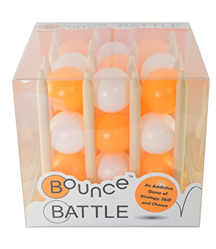 Bounce Battle Premium Wood Edition Game Set: An Addictive Game of Strategy, Skill & (27 Shot Magazine)