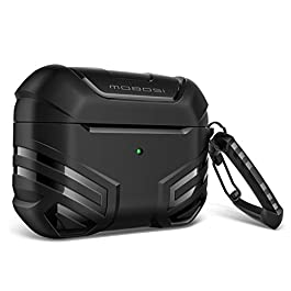 MOBOSI Vanguard Armor Series Military AirPods Pro Case, Full-Body Hard Shell Protective Cover Case Skin with Keychain…