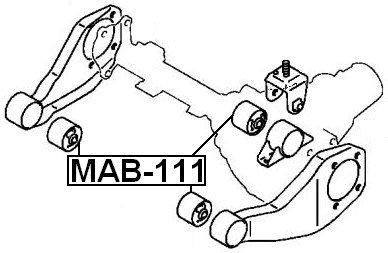 Mr992363 For Mitsubishi for Differential Mount Febest Arm Bushing