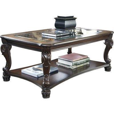 Chillon Rectangular Coffee Table With Tempered Glass Top