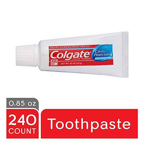 Native Mop (COLGATE Cavity Protection Travel Toothpaste with Fluoride, Great Regular Flavor, Anticavity Fluoride and Antigingivitis Toothpaste, Travel Toothpaste, 0.85 Ounce (Case of 240) (Model Number: 109782))