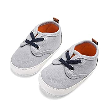 Boy Shoes Newborn Canvas Solid Lace