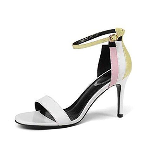 5 Taille Couleur Blanc Sandales Hauts Toe Chaussures Open Femme Escarpin Blanc EU36 Sexy Talons MUMA Stiletto UK3 CN35 AH7Sqx